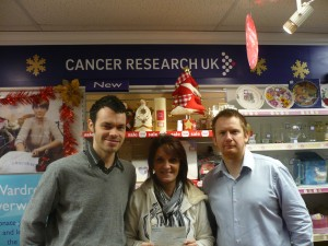 Ian and Robert at the Beeston Cancer Research Shop