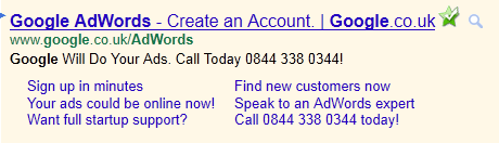 PPC Ads on Google Search