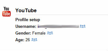 YouTube stats - gender, female - age, 26