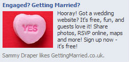 GettingMarried.co.uk Facebook ad