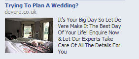 Trying to plan a wedding? Facebook ad