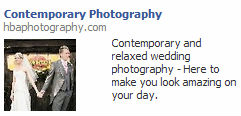 contemporary photography Facebook ad