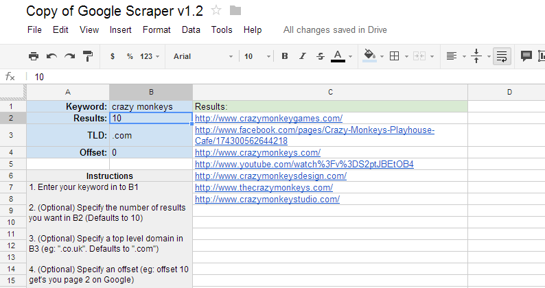 Copy of Google Scraper v1.2