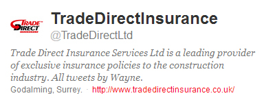TradeDirectLtd Twitter bio