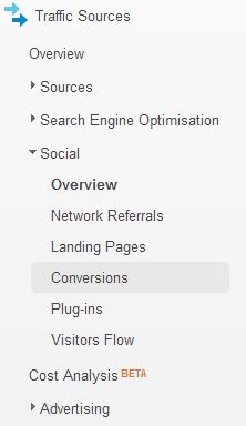 analytics social menu
