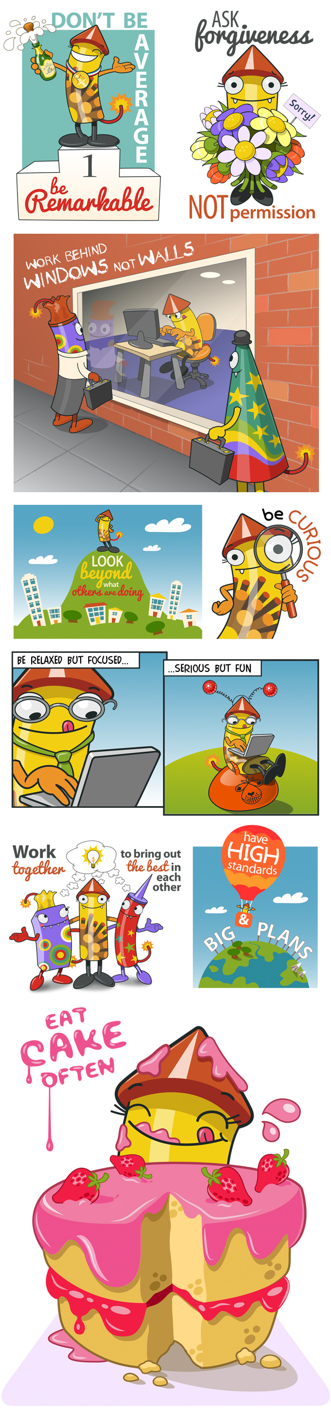 Boom company values graphic