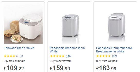 Breadmakers price comparison