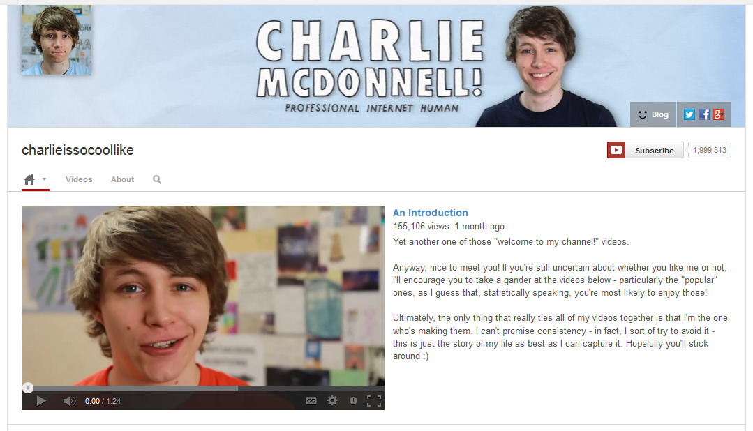 charlieissocoollike youtube channel