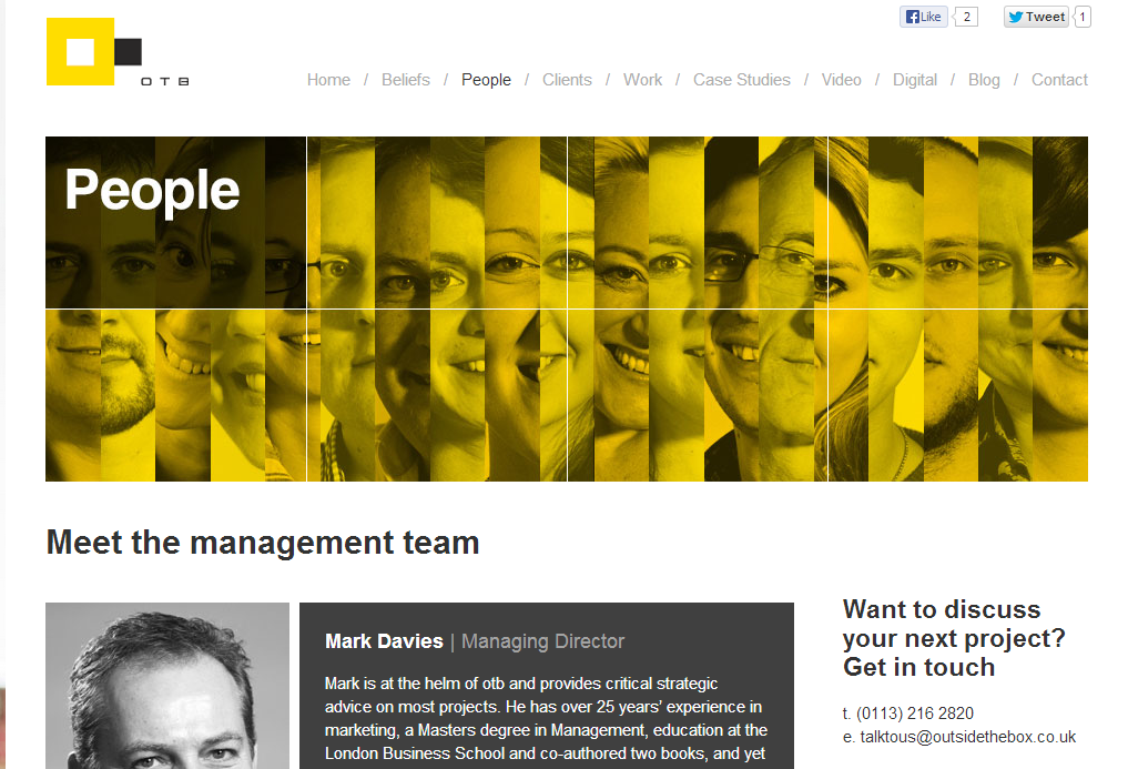 Creating Creative Meet The Team Pages With 13 Awesome