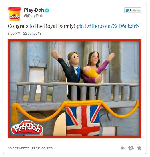 Play Doh Royal Baby tweets