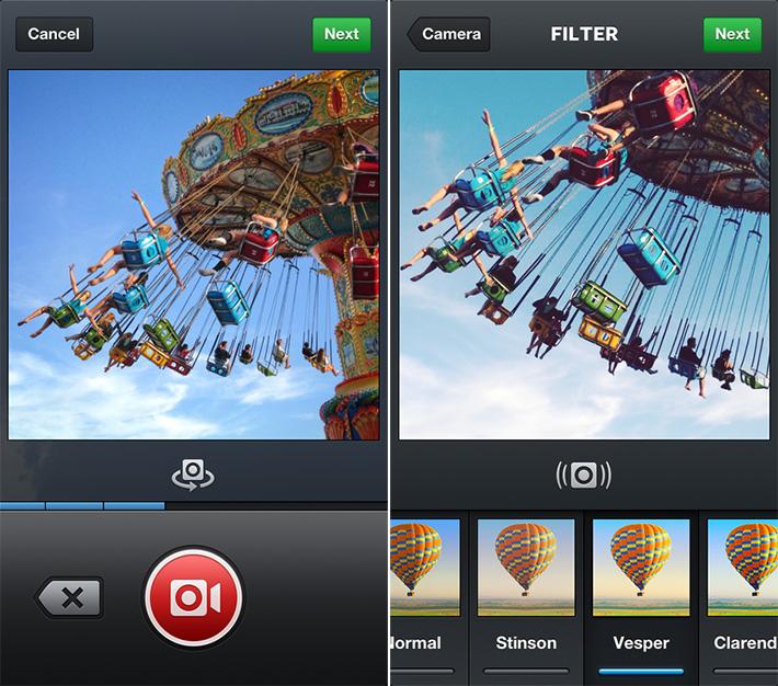 Instagram's new video function