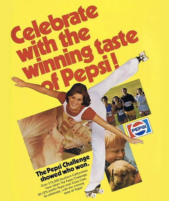 Early Pepsi taste tests adverts
