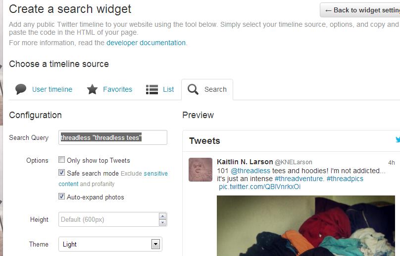 Create a search widget