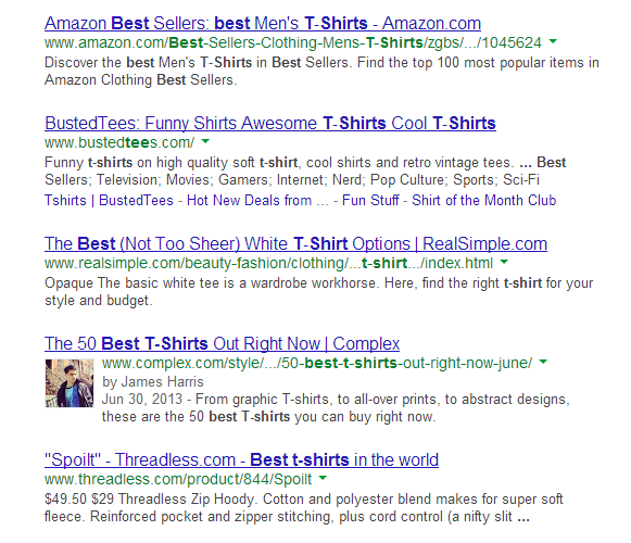 Social proof in the SERPS