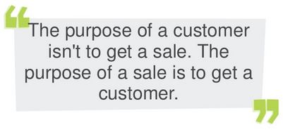 Sale to get a customer