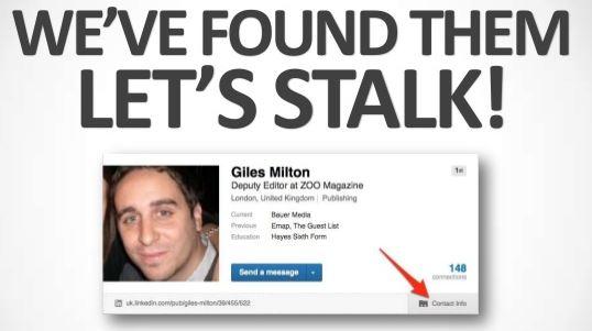 Stalking via LinkedIn