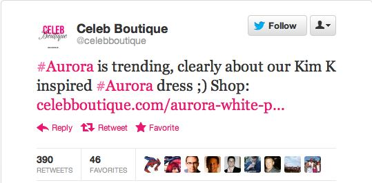 celeb boutique tweets