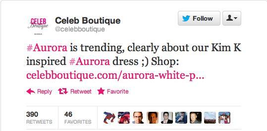 celeb boutique tweets