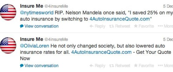 insensitive nelson mandela tweets