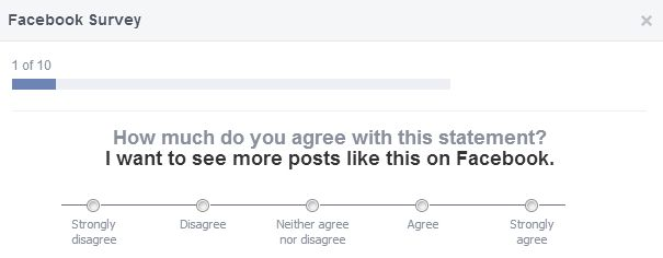 facebook survey question