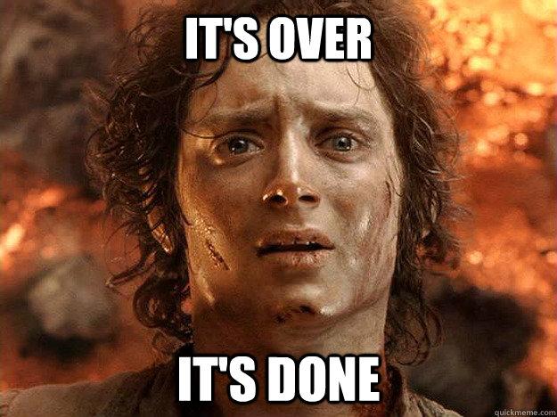 Woo no more more work!
