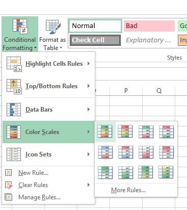 excel keyword tables
