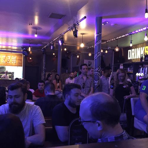Busy Crowd at Drink Digital Marketing Meetup