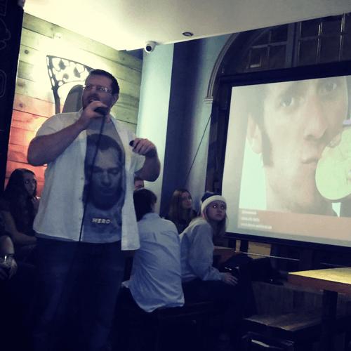 Wayne speaking at Drink Digital Marketing Meetup