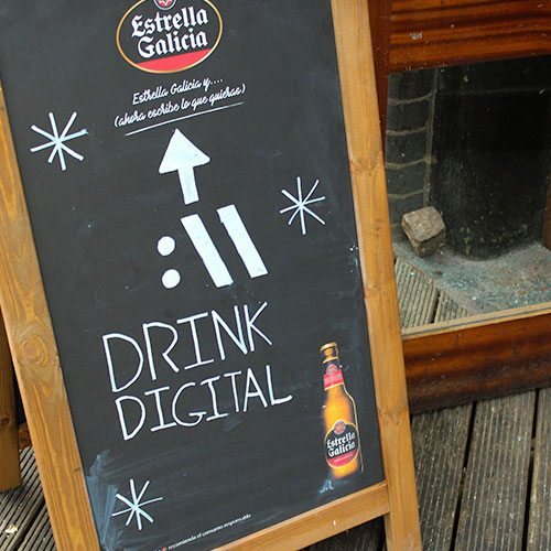 Drink Digital Chalkboard