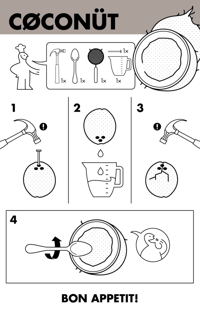 How to eat coconuts infographic
