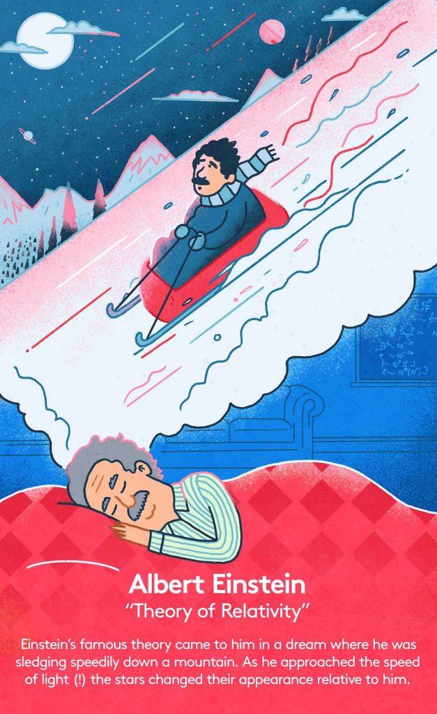 Einstein dreaming about relativity