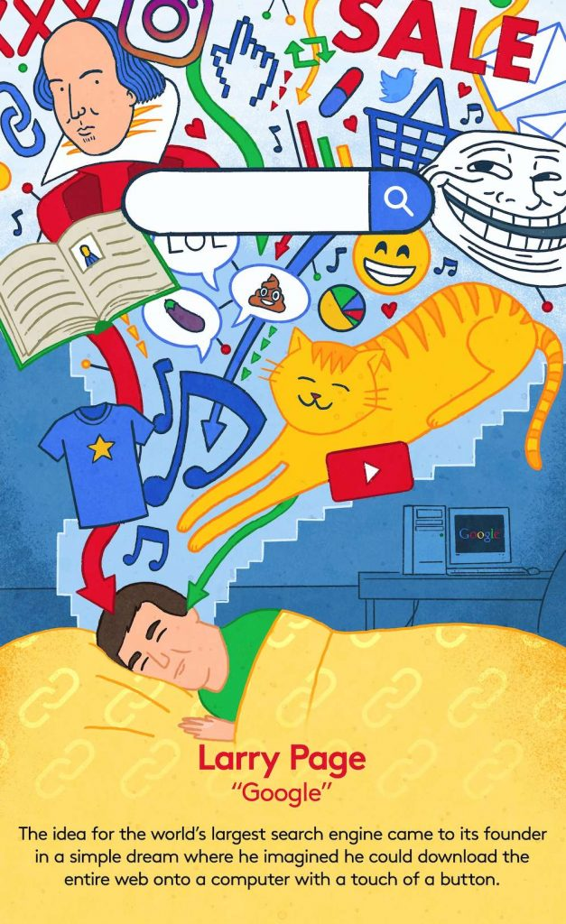 Larry Page dreaming about Google