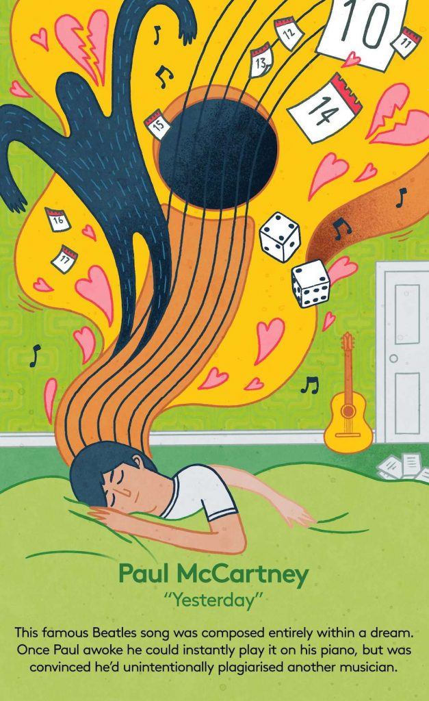 Paul McCartney dreaming about music