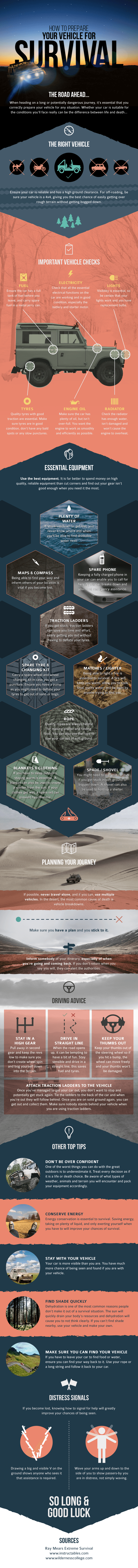 Survival infographic